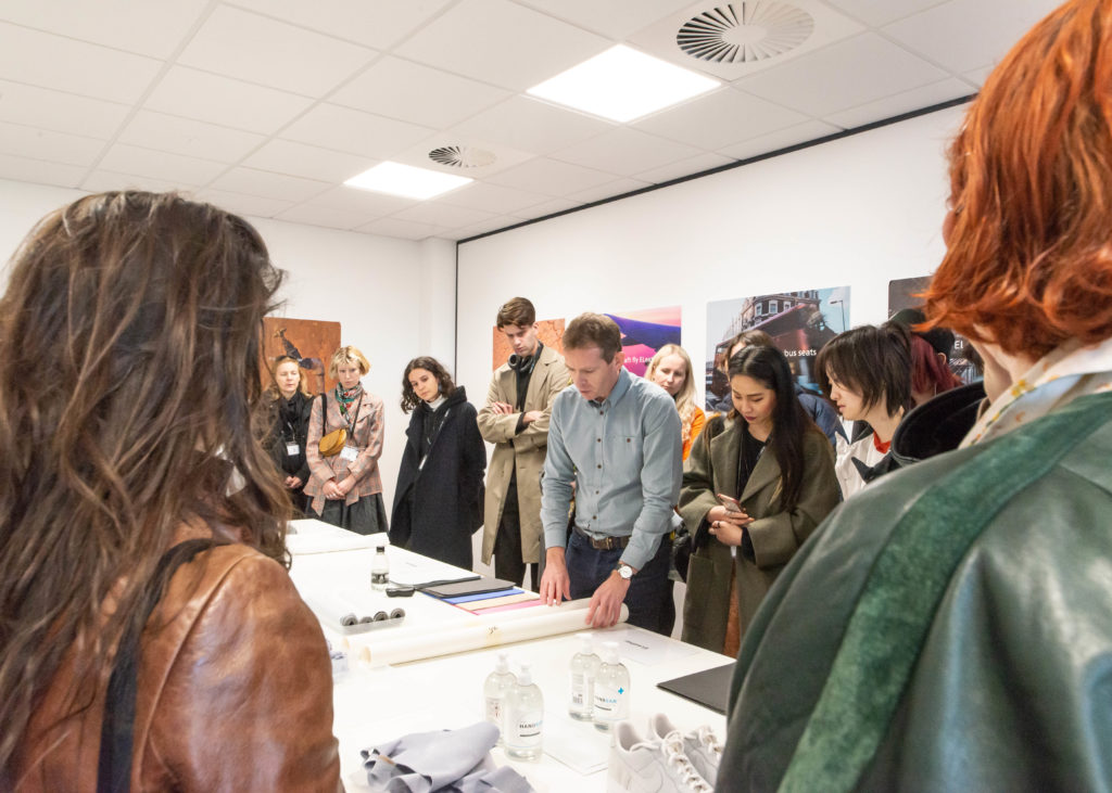 Central Saint Martins students at ELeather in Peterborough