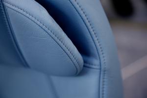 engineered leather blue
