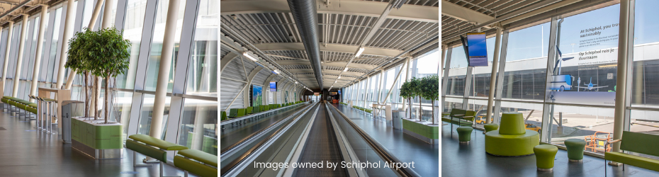 Schiphol Airport recycled leather